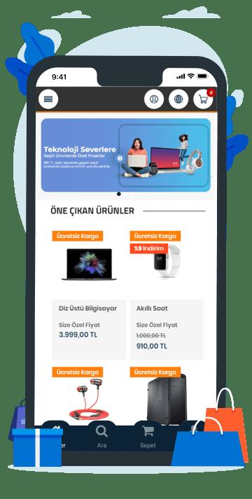 AKINSOFT E-Ticaret Mobil Uygulama